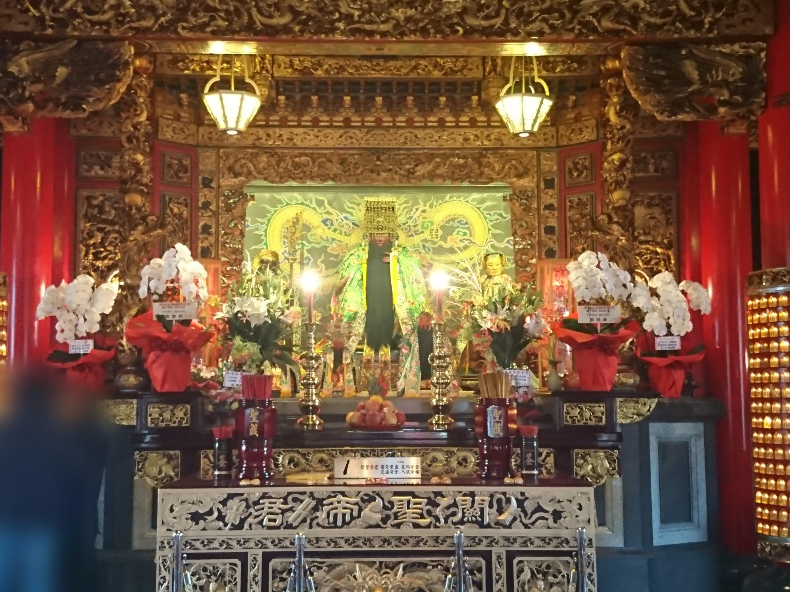 関帝廟の本殿の中